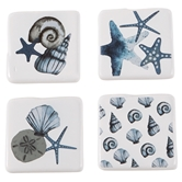 Watercolor Shell Coaster Set