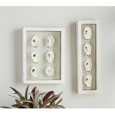Glass Oyster Shell Plaques