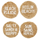 Beach Jute Coaster Set