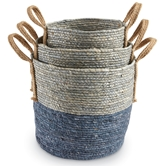 Blue Seagrass Basket Set