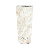 SS Large Tumbler Cream Marble Water
