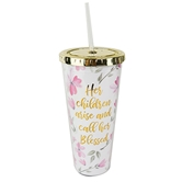 Straw Tumbler Call Her Blessed