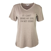 Prepack T-Shirt I'm Not Going Taupe S-L