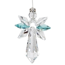 Crystal Guardian Angel™ - Large, Blue Zircon