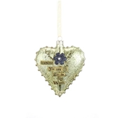 Grandma Glass Heart Ornament