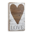 Love Heart Wall Art, Lg - 15x25""