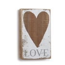 Love Heart Wall Art, Small - 5x8.5""
