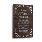 Love Joy Peace Patience Wall Art-13x22""