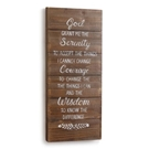 Serenity Prayer Wall Art-10.5x24.5""